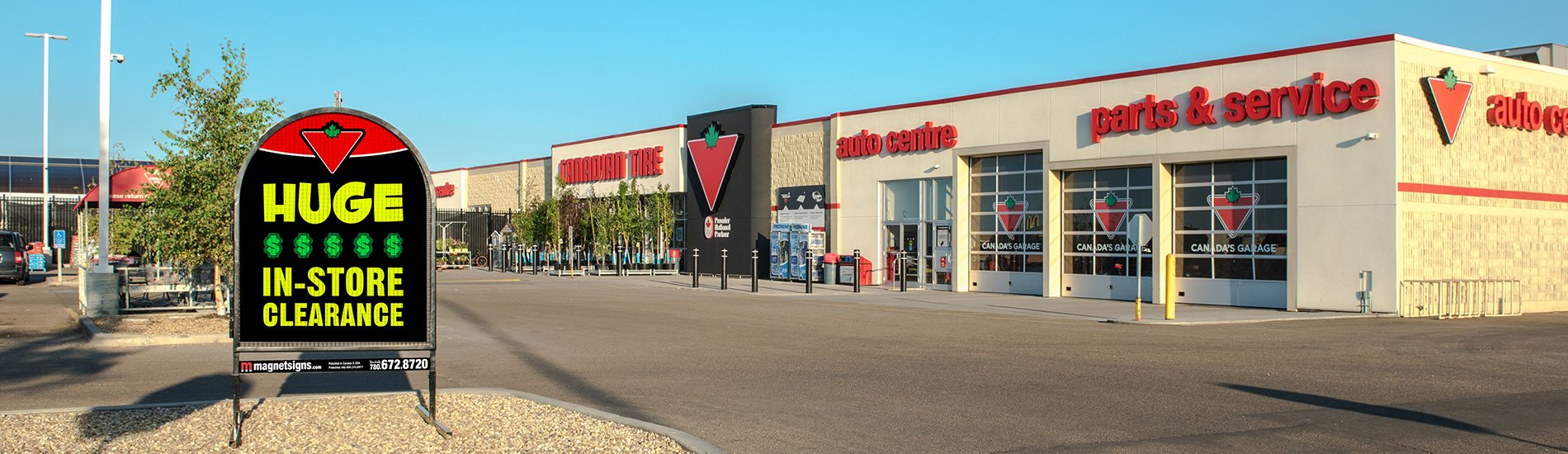 Canadian tire banner