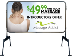 Massage addict print